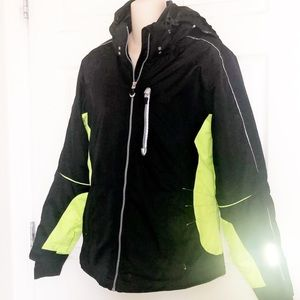 OBERMEYER Black and Green Ski/Snowboard Jacket